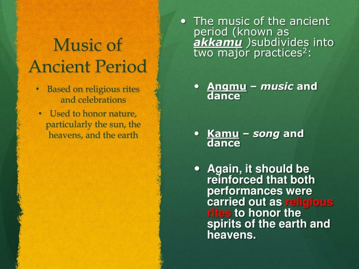 Music of Ancient Period