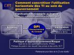 comment concr tiser l utilisation horizontale des ti au sein du gouvernement