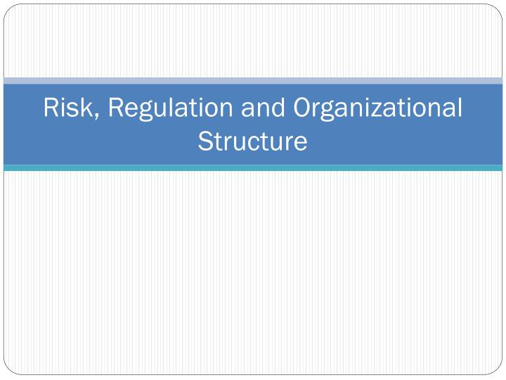 risk regulation and organizational structure n.