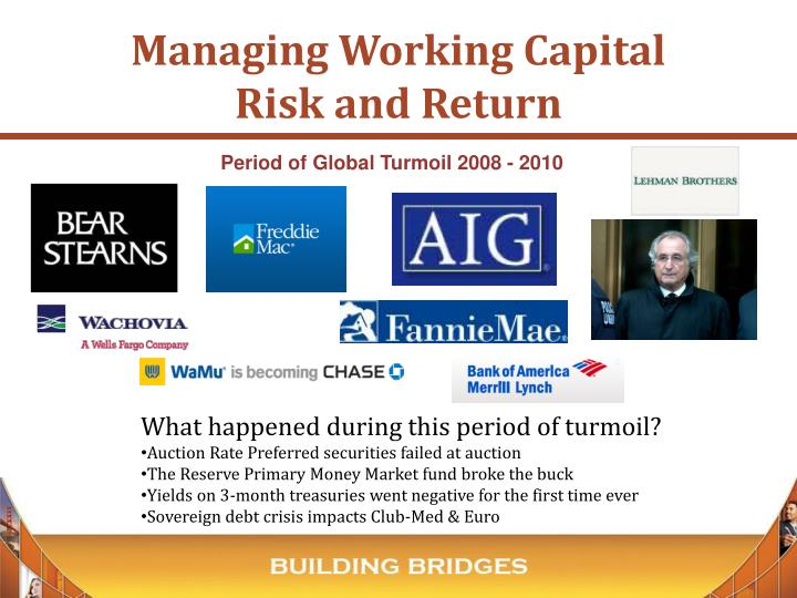 Managing working capital risk and return1