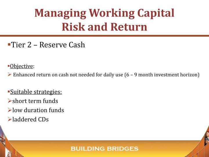 Tier 2 – Reserve Cash