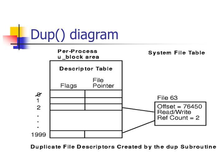 Dup() diagram
