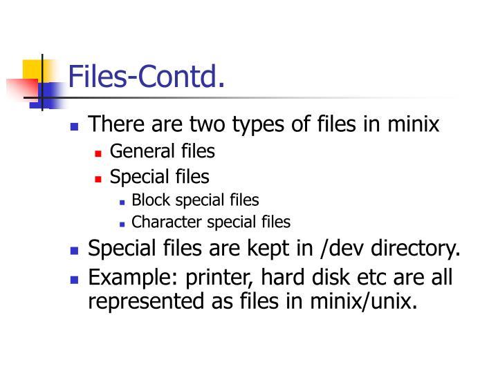 Files-Contd.