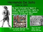 hernando de soto 1536 to 1537