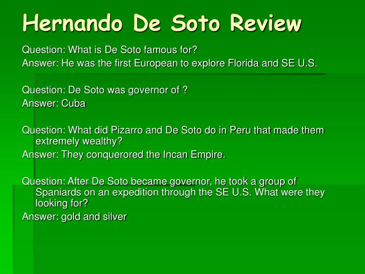 Hernando De Soto Review