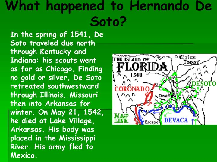 What happened to Hernando De Soto?