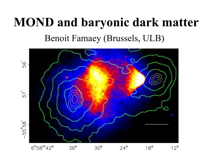 mond and baryonic dark matter n.