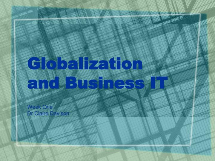 globalization and business it n.