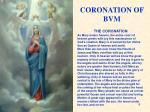 coronation of bvm