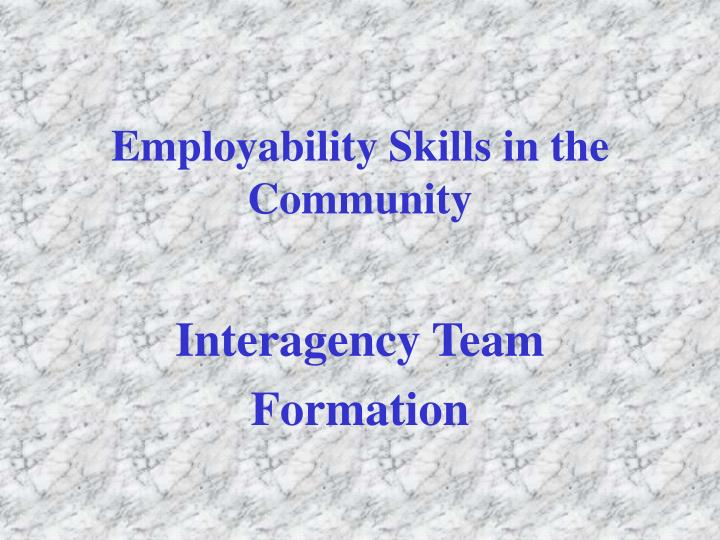 Employability Skills in the Community