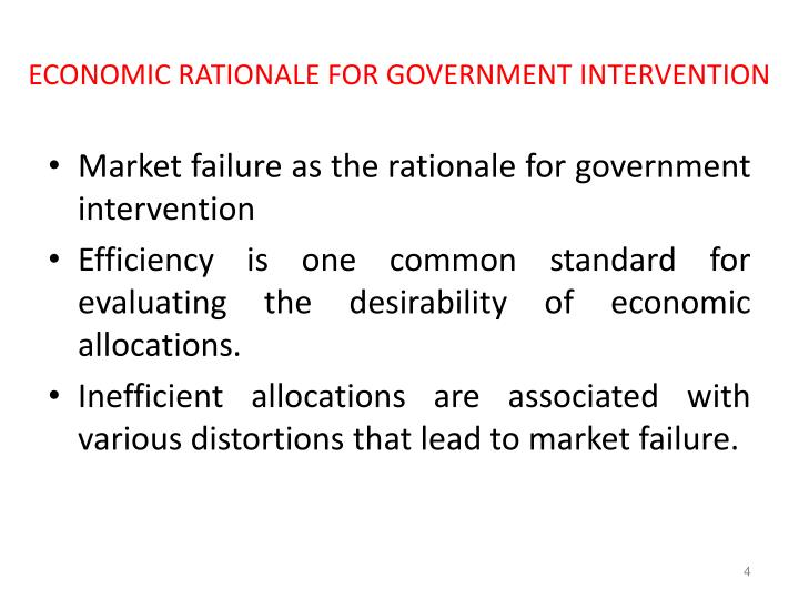 a rationale for government involvement in a market economy is