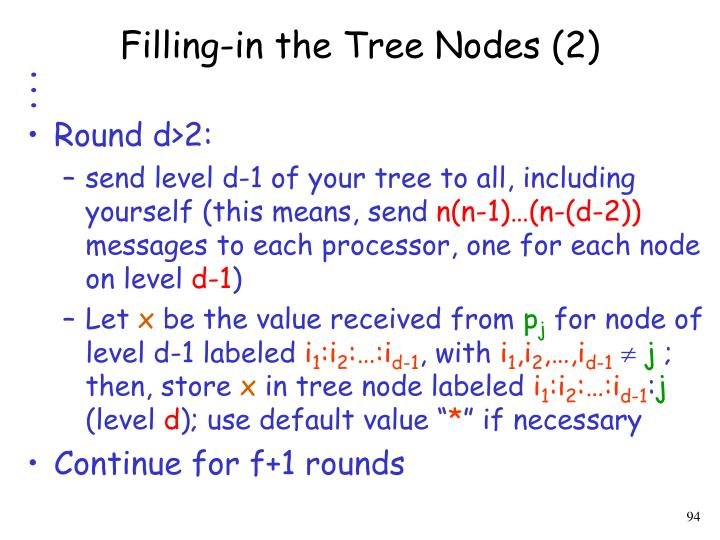 Filling-in the Tree Nodes (2)