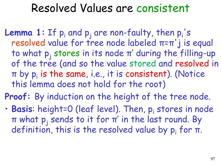 Resolved Values are