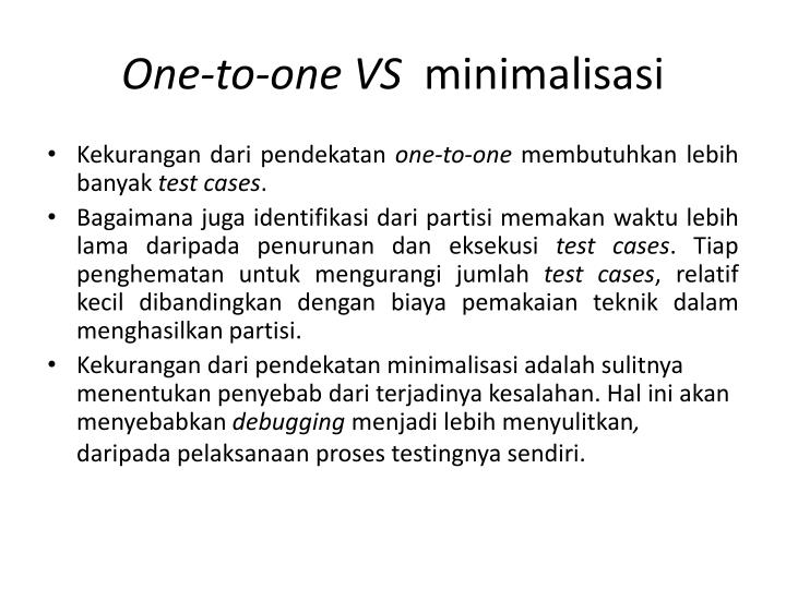 One-to-one VS
