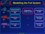 modelling the full system