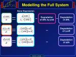 modelling the full system2