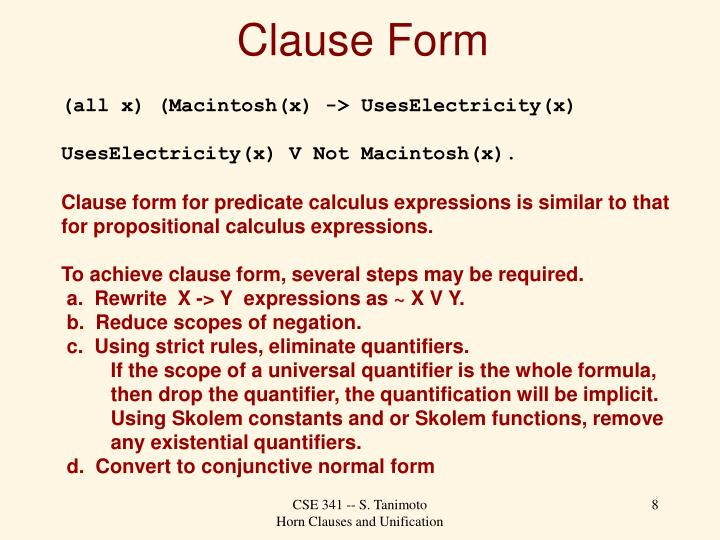 Clause Form