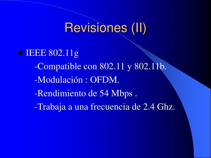Revisiones (II)