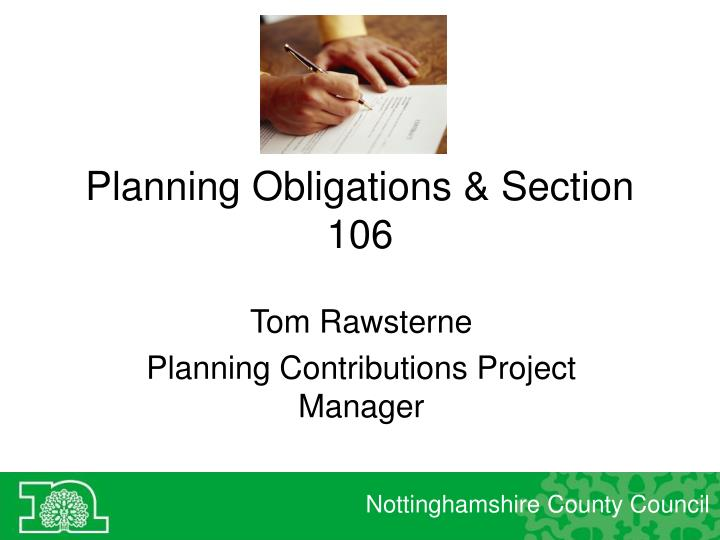 what is a section 106 agreement in planning