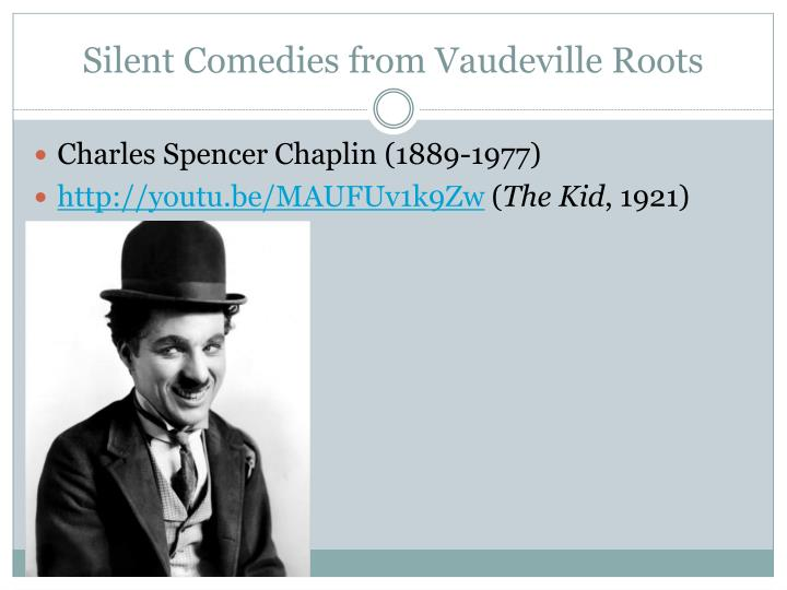 Silent comedies from vaudeville roots
