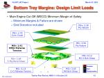 bottom tray margins design limit loads1