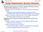 design requirements dynamic clearance