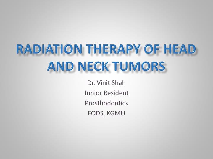 radiation therapy of head and neck tumors n.