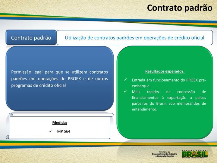 Contrato padrão