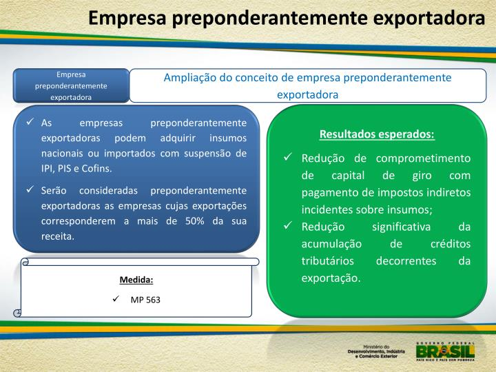 Empresa preponderantemente exportadora