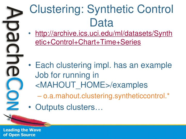 Clustering: Synthetic Control Data