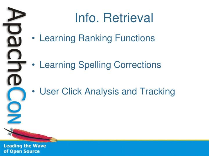 Info. Retrieval