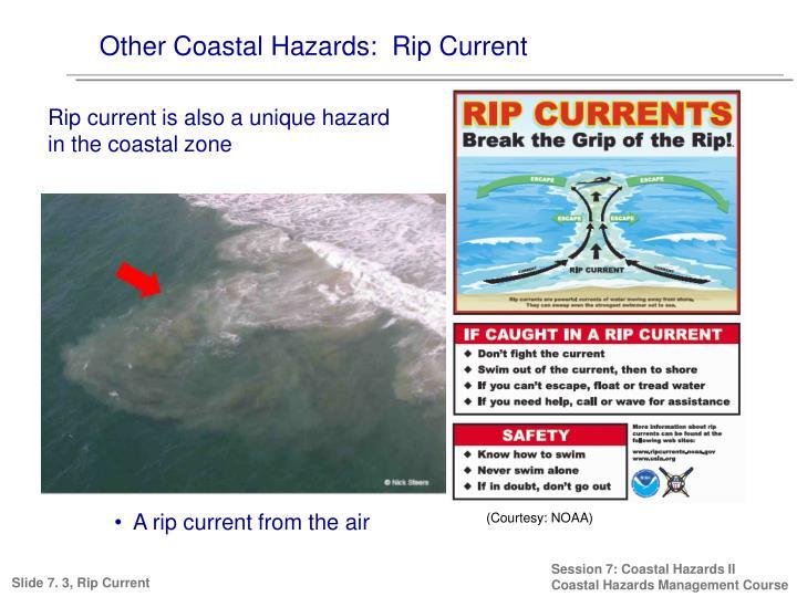 Other Coastal Hazards:  Rip Current