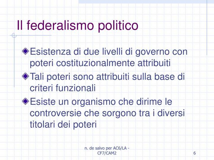 Il federalismo politico