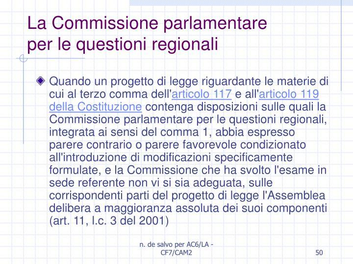 La Commissione parlamentare