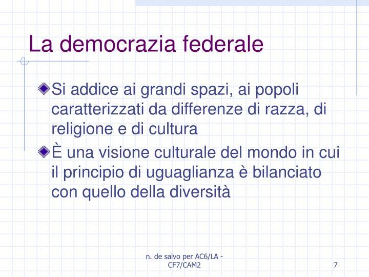 La democrazia federale