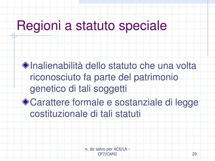Regioni a statuto speciale