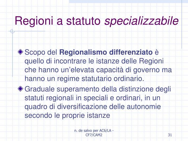 Regioni a statuto