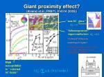 giant proximity effect alvarez et al prb71 014514 2005