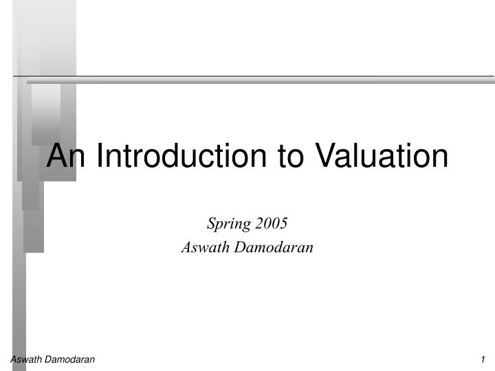 an introduction to valuation n.