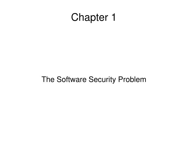 the software security problem n.