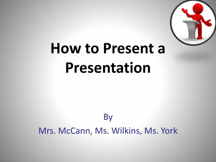 how to present a presentation n.