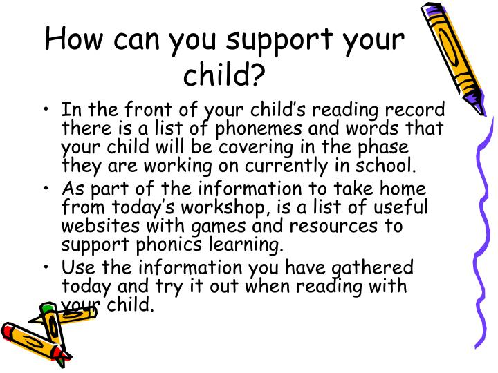 How can you support your child?