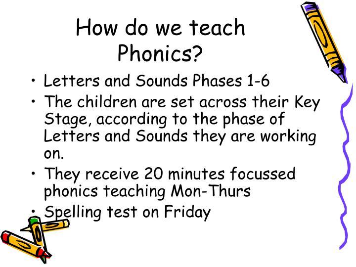 How do we teach Phonics?