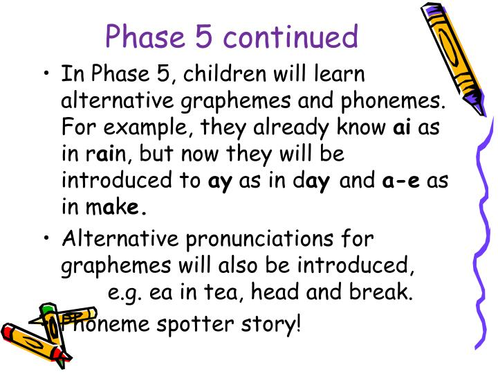 Phase 5 continued