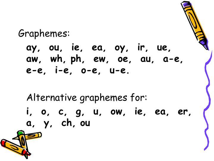 Graphemes: