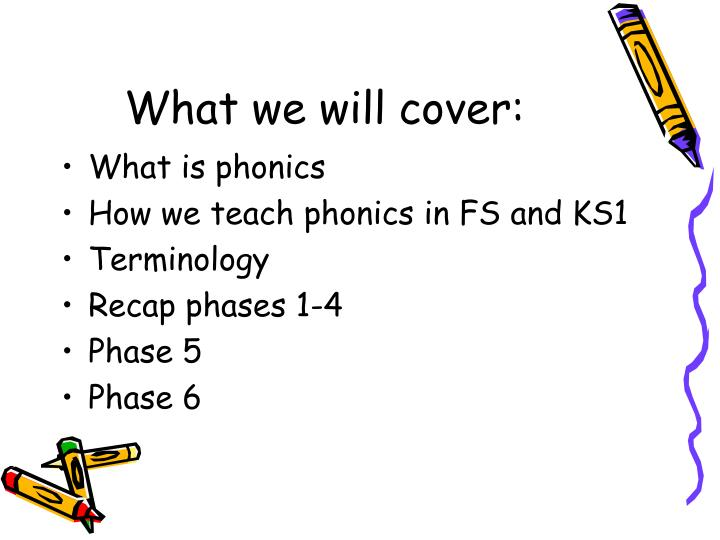 What we will cover