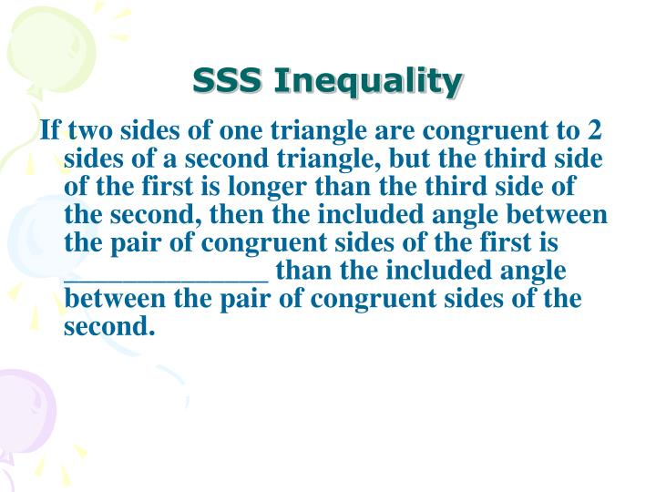 SSS Inequality