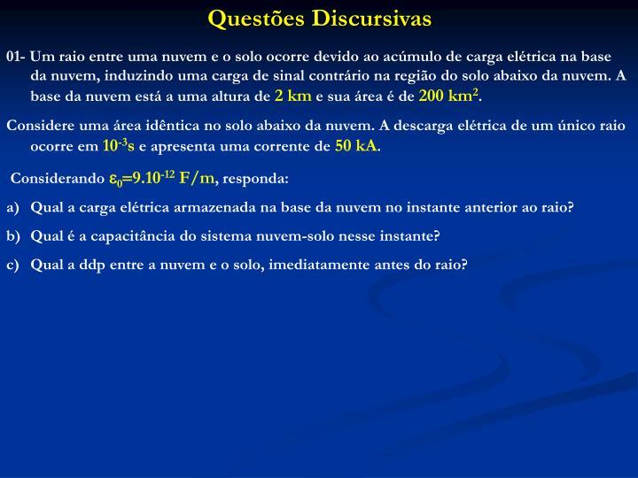 Questões Discursivas