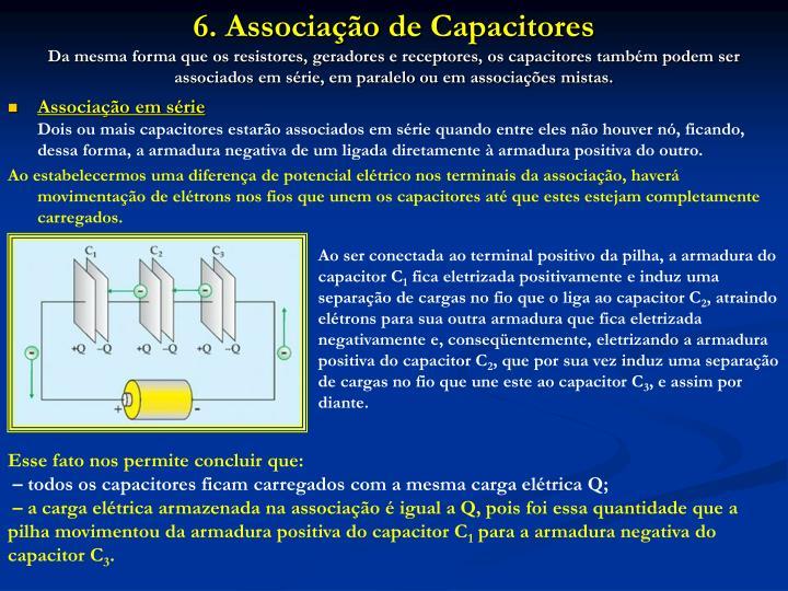 6. Associação de Capacitores