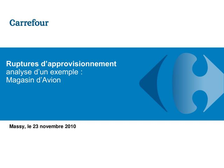 Ruptures d approvisionnement analyse d un exemple magasin d avion